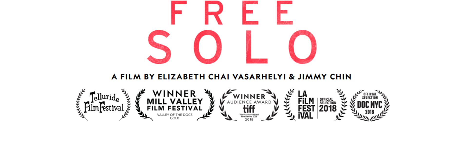 Book tickets to the documentary FREE SOLO