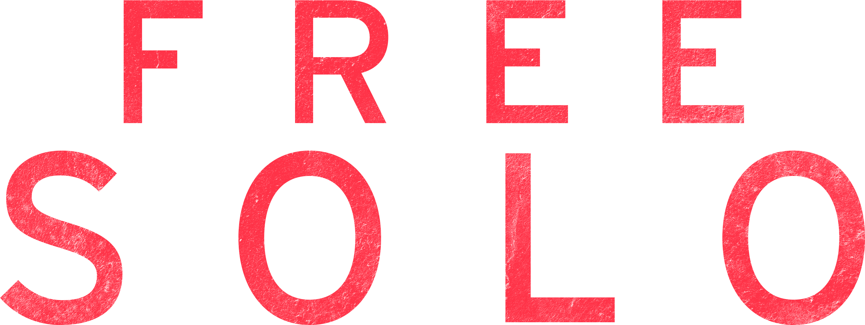 freesolo red texture logo